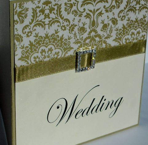 Gold Elegance Diligo Bay Wedding Invite