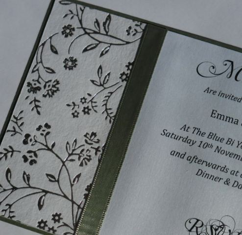 Jade Classic Diligo Bay Wedding Invite