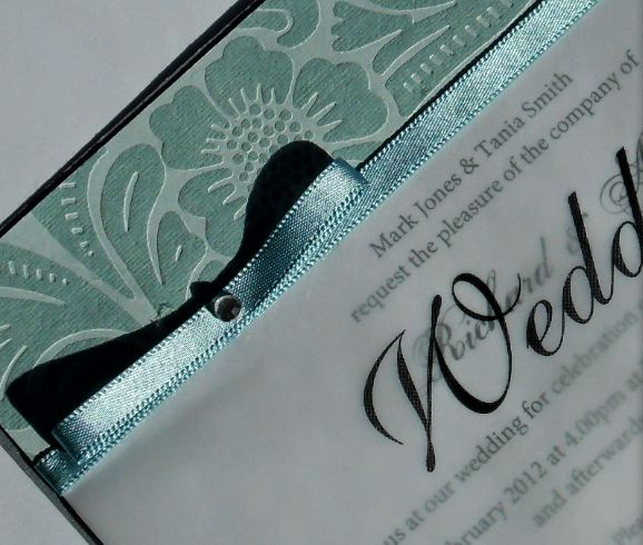 Silver Elegance Diligo Bay Wedding Invite